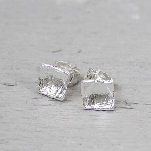 14566 - Oorbel zilver wit