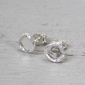 15493 - Oorbel rond zilver
