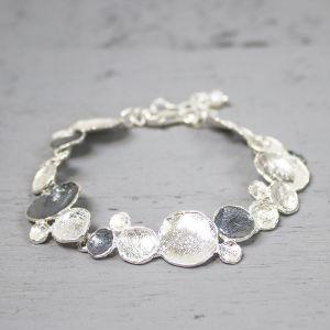 18091 - Armband zilver oxy + wit