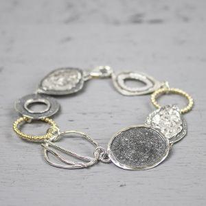 18480 - Armband zilver oxy + wit