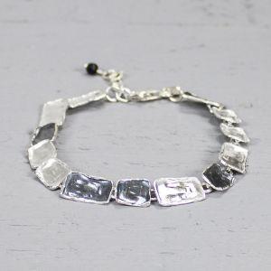 18712 - Armband zilver oxy + wit