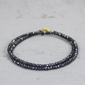 18746 - Collier goldfilled + Spinel zw