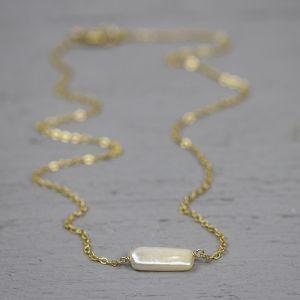 18768 - Collier goldfilled parel