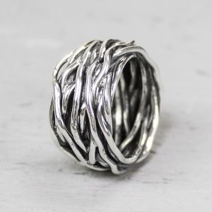 18799 - Ring zilver oxy wikkelring