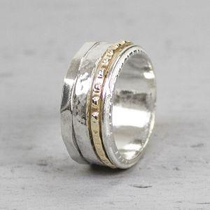 18888 - Ring zilver + Gold Filled Stralend