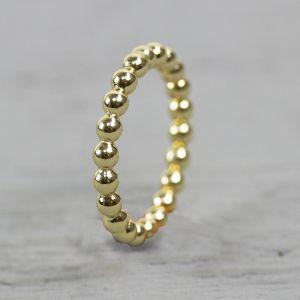 19757 - Ring bolletjes goldfilled