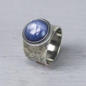 20217 - Ring zilver oxy met Kyaniet