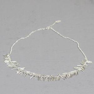 20240 - Collier zilver blaadjes klein 45 cm