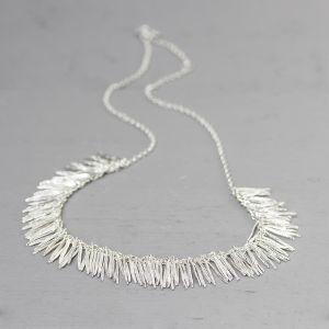 20241 - Collier zilver blaadjes groot 45 cm