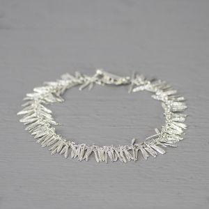20243 - Armband zilver blaadjes klein 19 cm