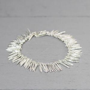 20245 - Armband zilver blaadjes groot 19 cm