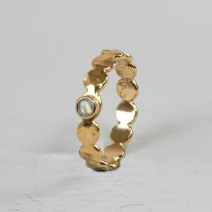20467 - Ring Goldfilled bubbles + maansteen
