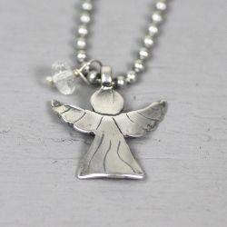 17970 - Collier met engel en bergkristal