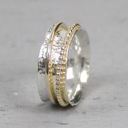 18728 - Ring zilver + Gold Filled Chique